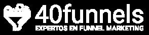 Logo 40funnels (blanco-transparente)
